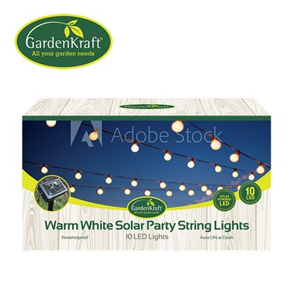 10 LED Solar Party String Light