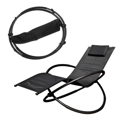 Louis Textilene Rocking Lounger Black