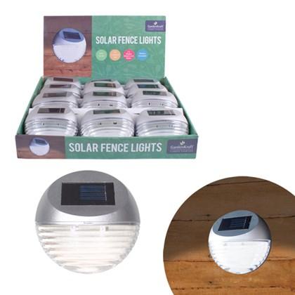 Solar LED Fence Light - Silver