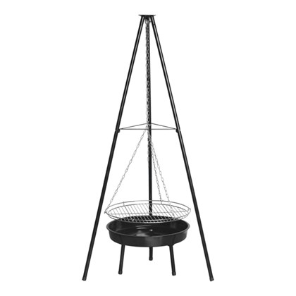 "20"" Tripod BBQ Grill and Firepit"