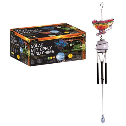 Solar LED Butterfly Wind Chime