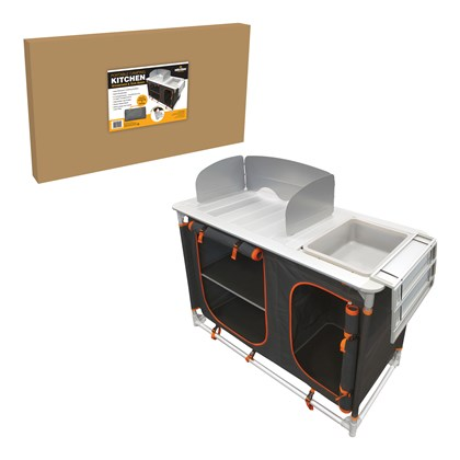 Camping Kitchen - Windshield, Sink & 4 Storages