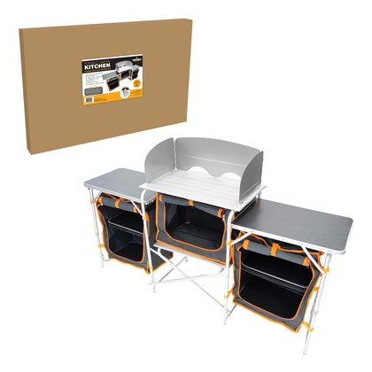 Camping Kitchen - Windshield + 3 working Tables