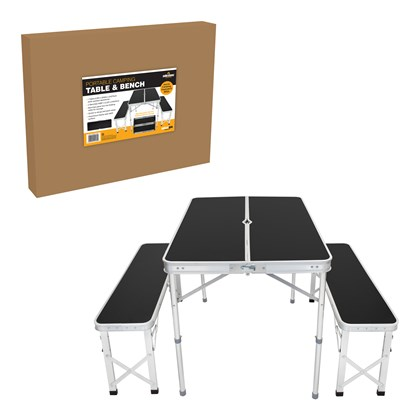 Portable Camping/Picnic Outdoor Table & Bench Set