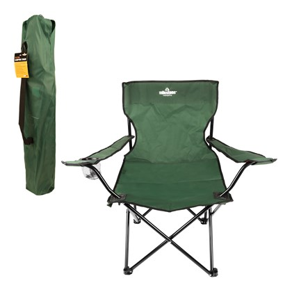 Folding Leisure Chair With Cup Holder - Green