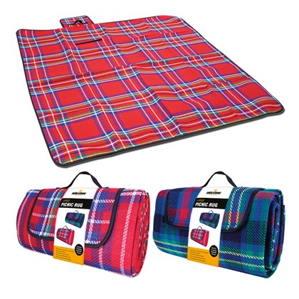 Large Picnic Rug - Assorted Red or Blue