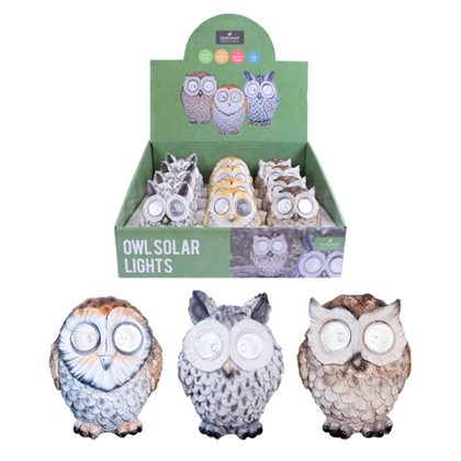 13cm Owl Solar LED Light