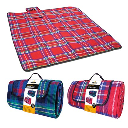 Extra Large Picnic Rug - Assorted Red or Blue