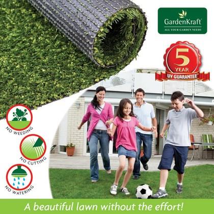 15mm 4m x 1m Artificial Grass (Light Green Color)