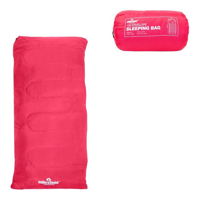 Envelope Sleeping Bag - Pink - Single - 2 Seasons