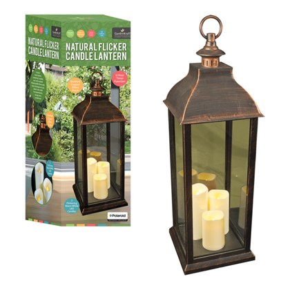 70cm Natural Flicker Candle Lantern (Batt Inc)