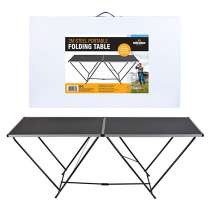 2m Steel Portable Folding Table