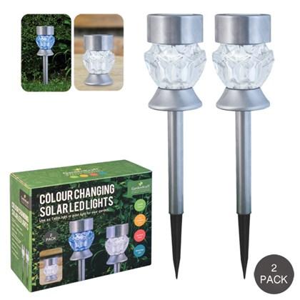 2pk-2 In 1 Solar LED Post or Table Lantern Lights