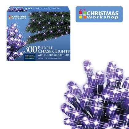 300 LED Purple Chaser Lights