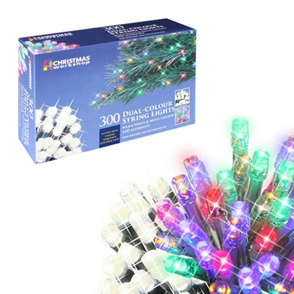 300 led chaser lights dual warm whitemulti colour