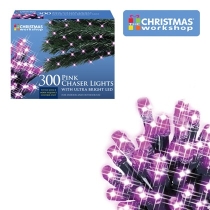 300 led chaser lights pink