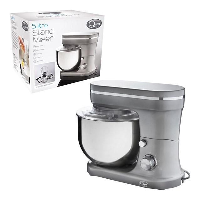5L Stand Mixer - 1200W - Metallic Grey