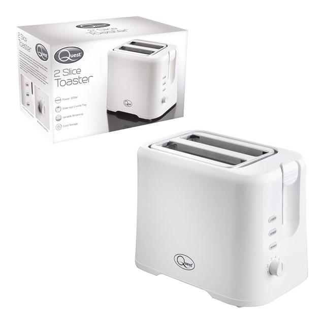 2-Slice Toaster - White