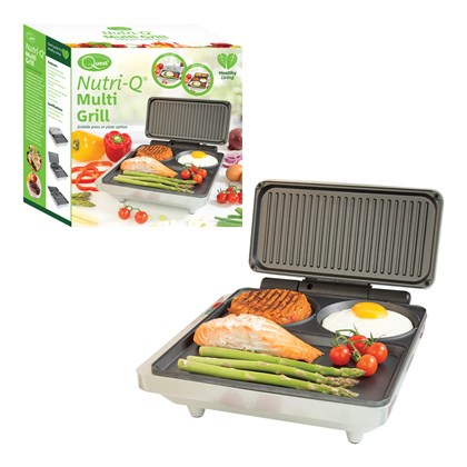 Nutri-Q Fold-out Grill & Griddle - Grey