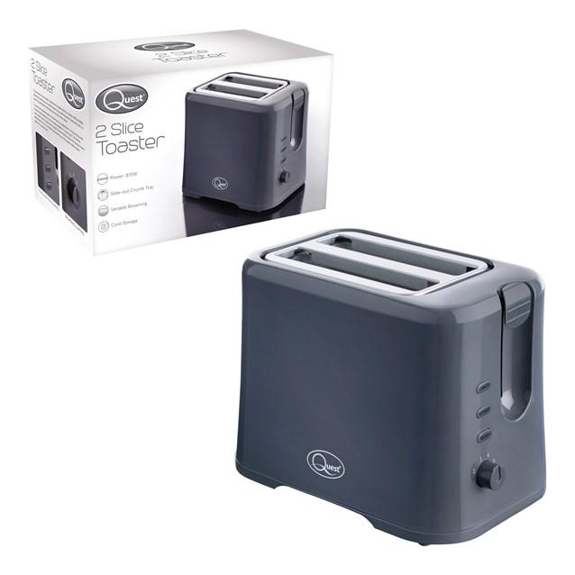 2-Slice Toaster - Grey