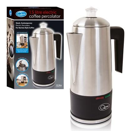 1.5L Electric Coffee Percolator - S/Steel