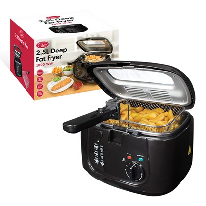 2.5L Deep Fryer With Removable Lid - Black
