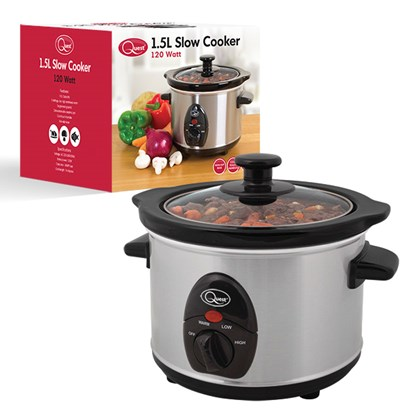 Stainless Steel 1.5 Ltr Slow Cooker - 120w