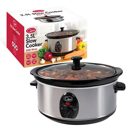 Stainless Steel 3.5 Ltr Slow Cooker - 200w