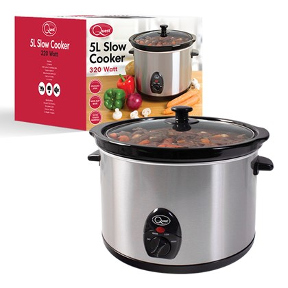 Stainless Steel 5 Ltr Slow Cooker - 320w