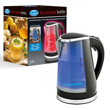 Dual LED Illuminated Kettle - 1.7Ltr Black