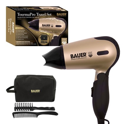 Bauer Tourmaline Travel Hair Dryer Set - 1200w