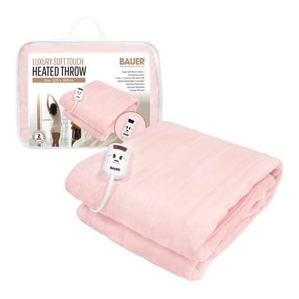 Bauer Luxury Soft Touch Heated Throw- Pink 120x160