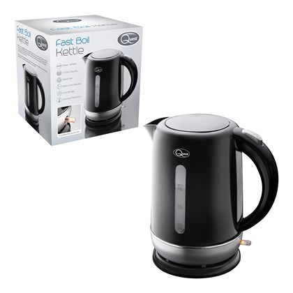 1.5L Fast Boil Kettle Black and Silver