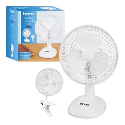 "6"" 2 in 1 Desk/Clip Fan"