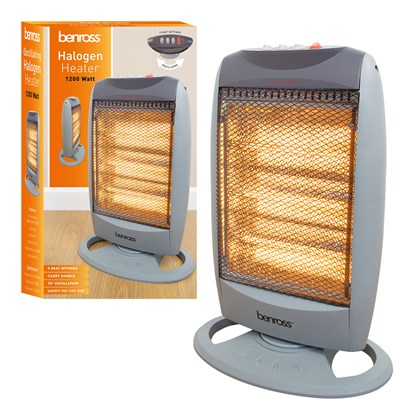 1200 Watt Halogen Heater Oscillating