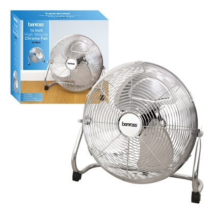 "14"" High Velocity Chrome Fan"