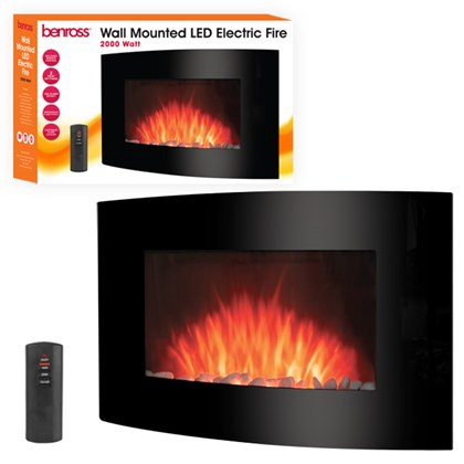LED Wall Mounted Fire - 2000w