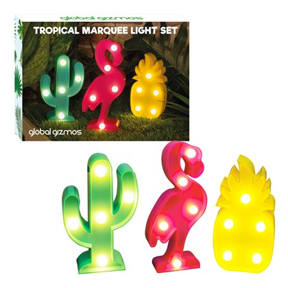 Set Of 3 Mini Marquee Lights