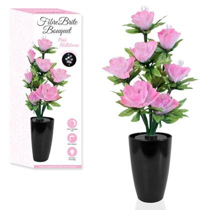 Large Fibre Optic Flower - Pink Hellebores