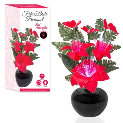 Fibre Optic Flower - Red Amaryllis