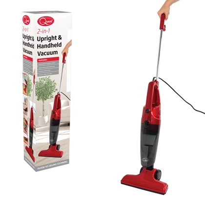 2-in-1 Upright & Handheld Vacuum Cleaner Red