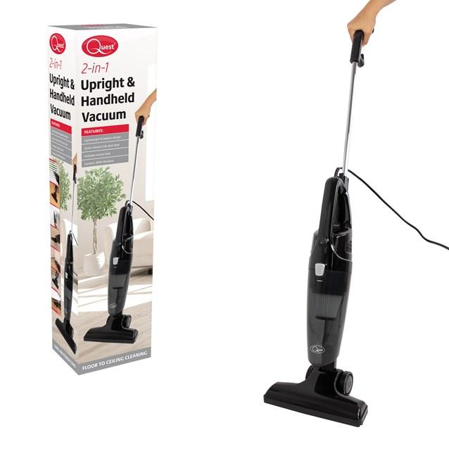 2-in-1 Upright & Handheld Vacuum Cleaner Black