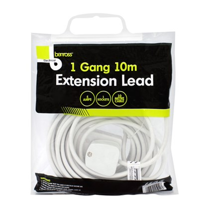1 Gang 10m 5amp Extension Lead