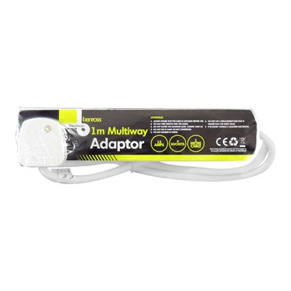 4 Way 1M Extension Lead - 13A