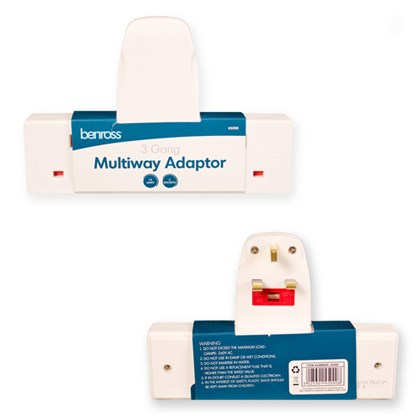 3 Way Wall Adaptor - 13A