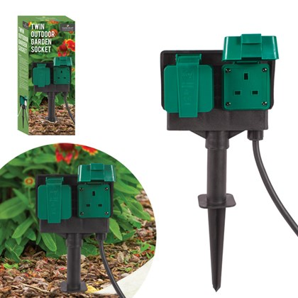 Outdoor Garden Socket - 3m Cable