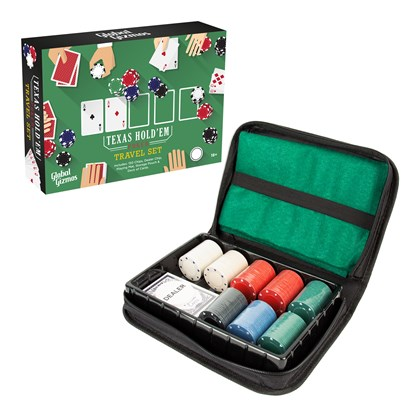 Poker Set In Travel Case -26.2x6.2x18.5cm