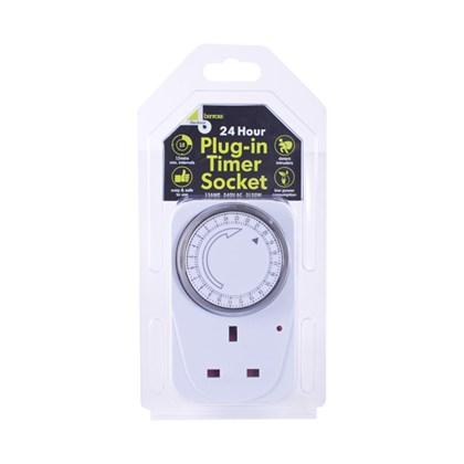 24-Hour Plug-In Timer Socket (Large)