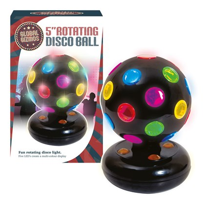 "5"" LED Disco Ball - Black"