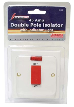 45A Double Pole Switch & Neon